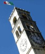 Il tricolore sul campanile